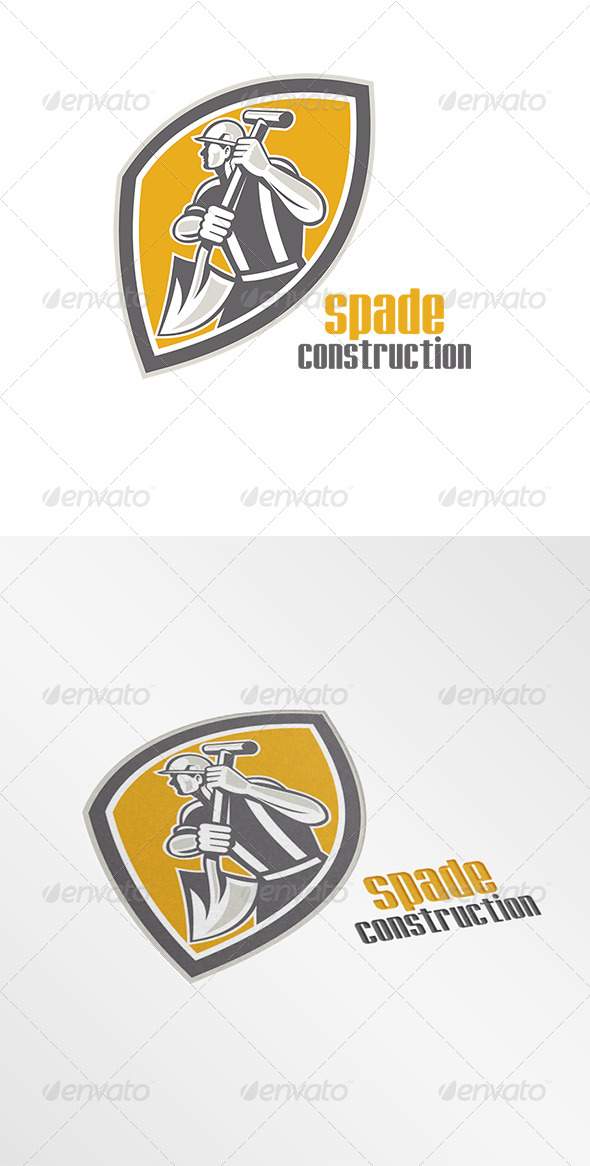 GraphicRiver Spade Construction Logo 8202266