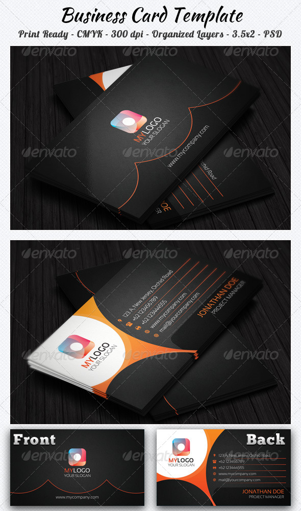 GraphicRiver Corporate Business Card 8202271