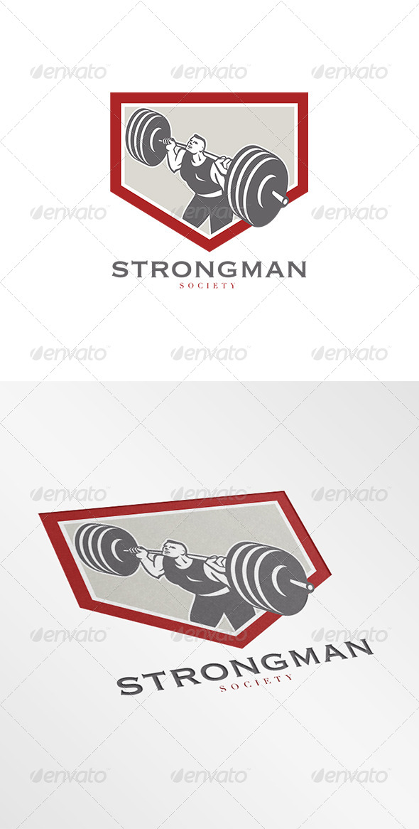 GraphicRiver Strongman Society Logo 8202272