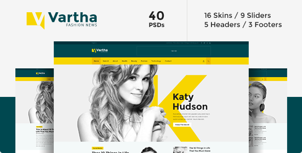 ThemeForest Vartha PSD 8143406