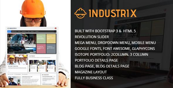 Industrix HTML5 Responsive template - Site Templates