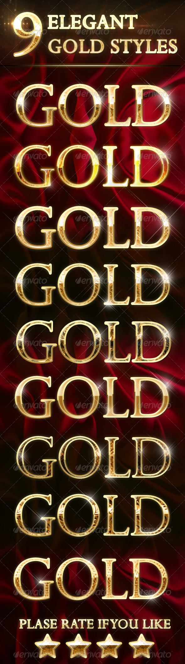 GraphicRiver 9 Elegant Gold Text Effects 8202824
