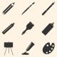 Set of Art Supplies - GraphicRiver Item for Sale