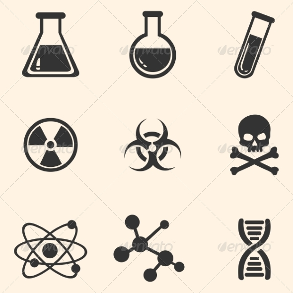 GraphicRiver Set of Chemistry Icons 8202837