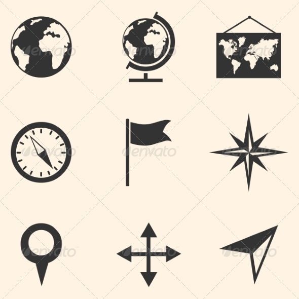GraphicRiver Set of Geography Icons 8202840