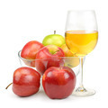 apples and glass with juice - PhotoDune Item for Sale