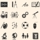 Set of School Subjects Icons - GraphicRiver Item for Sale