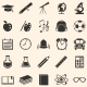 Vector Set of 25  School Icons. - GraphicRiver Item for Sale