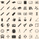 Set of 49 Education Icons School and University  - GraphicRiver Item for Sale