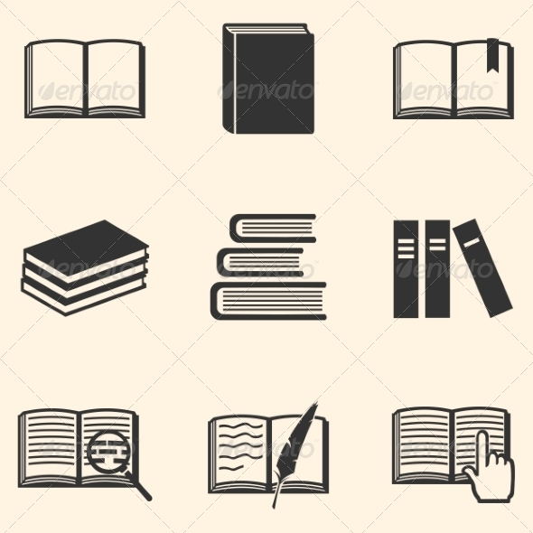 GraphicRiver Set of Book Icons 8203030