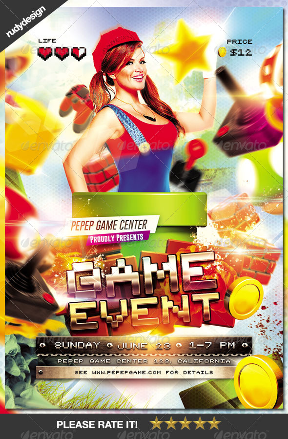 GraphicRiver Video Games Event Flyer Design 8203034