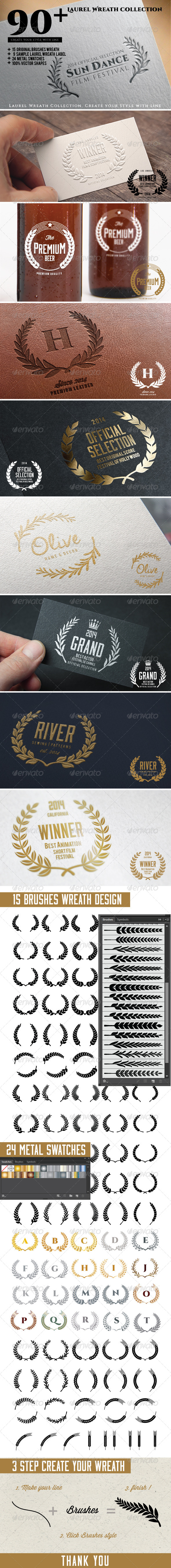 GraphicRiver 90& Laurel Wreath Collection 8187307