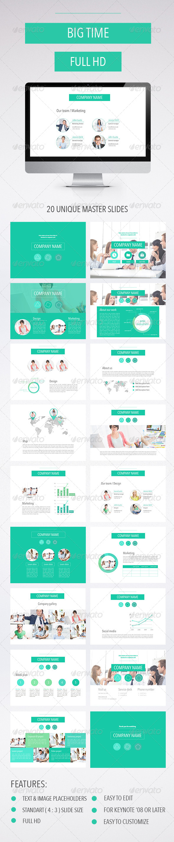 GraphicRiver Big Time Keynote Template 8157733