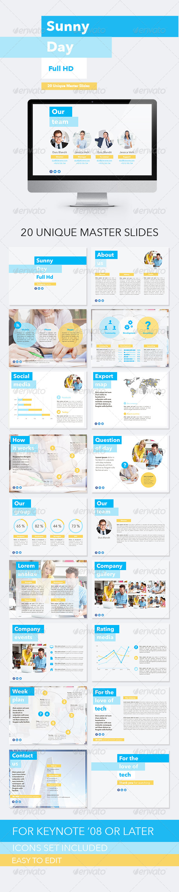 GraphicRiver Sunny Day Keynote Template 8164794