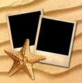Photo of an old style decorated starfish on a background of sea  - PhotoDune Item for Sale
