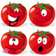 Cartoon Tomato with Many Expressions - GraphicRiver Item for Sale