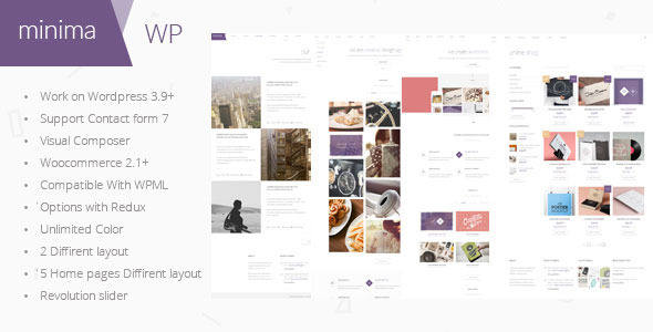 Minima - Ecommerce & Corporate Wordpress Theme - Corporate WordPress