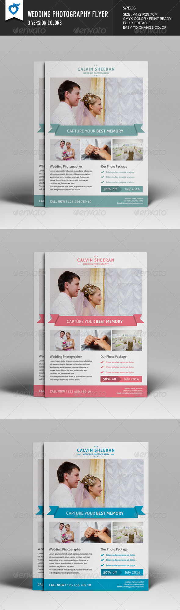 GraphicRiver Wedding Photography Flyer 8203713