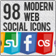 Modern Web Social Icons - GraphicRiver Item for Sale