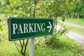 parking sign in a green park - PhotoDune Item for Sale