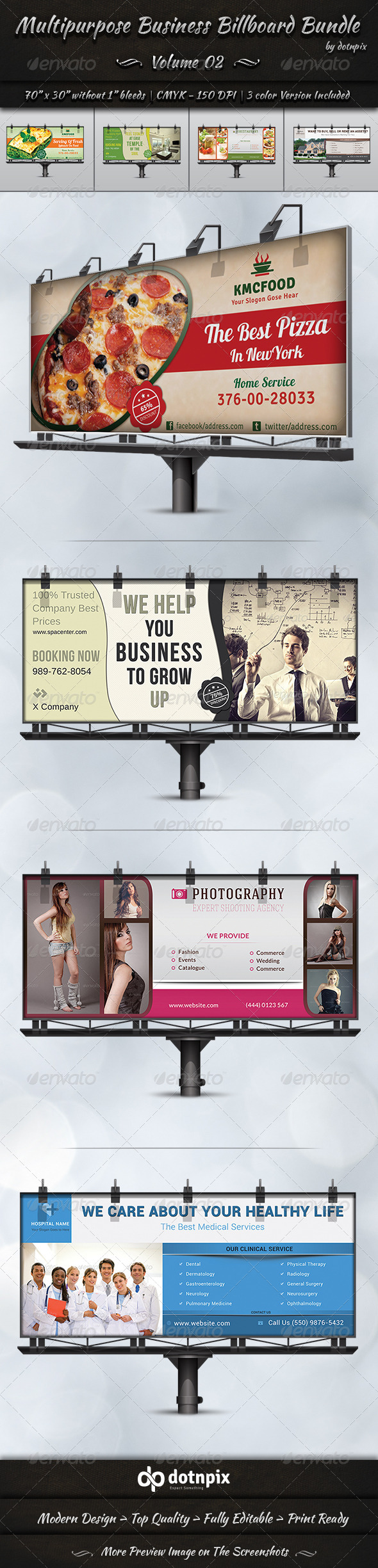 GraphicRiver Multipurpose Business Billboard Bundle Volume 2 8204193