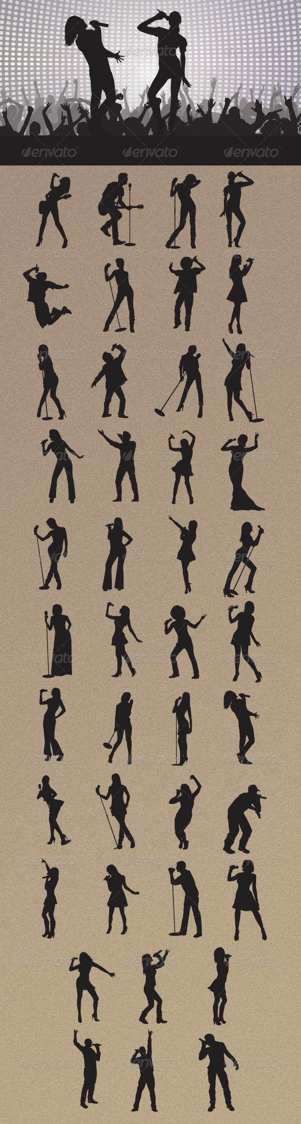 GraphicRiver Singer Silhouettes 8204198