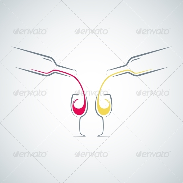GraphicRiver Wine Glass Bottle Concept Background 8204299