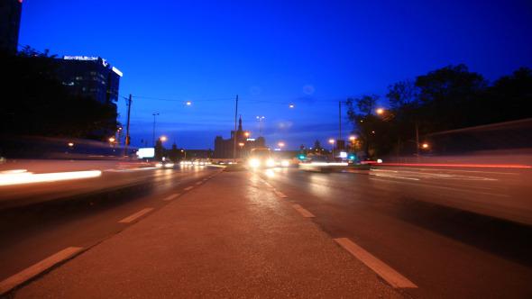 Night Traffic Street View