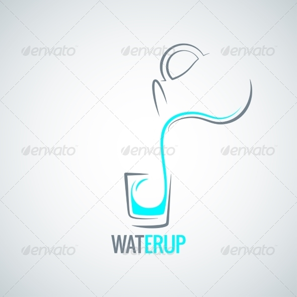 GraphicRiver Water Glass Bottle Menu Background 8204319