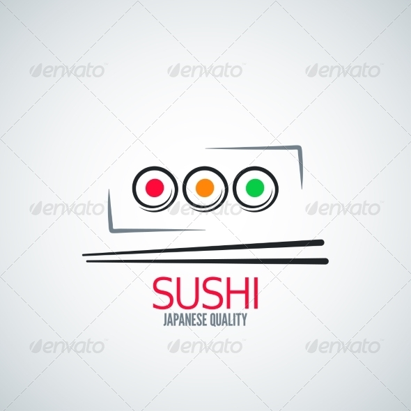 GraphicRiver Sushi Roll Plate Menu Background 8204324