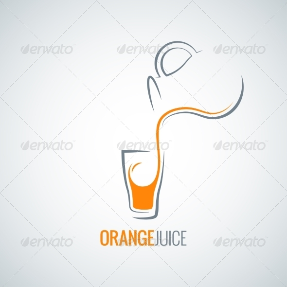 GraphicRiver Orange Juice Glass Bottle Background 8204338