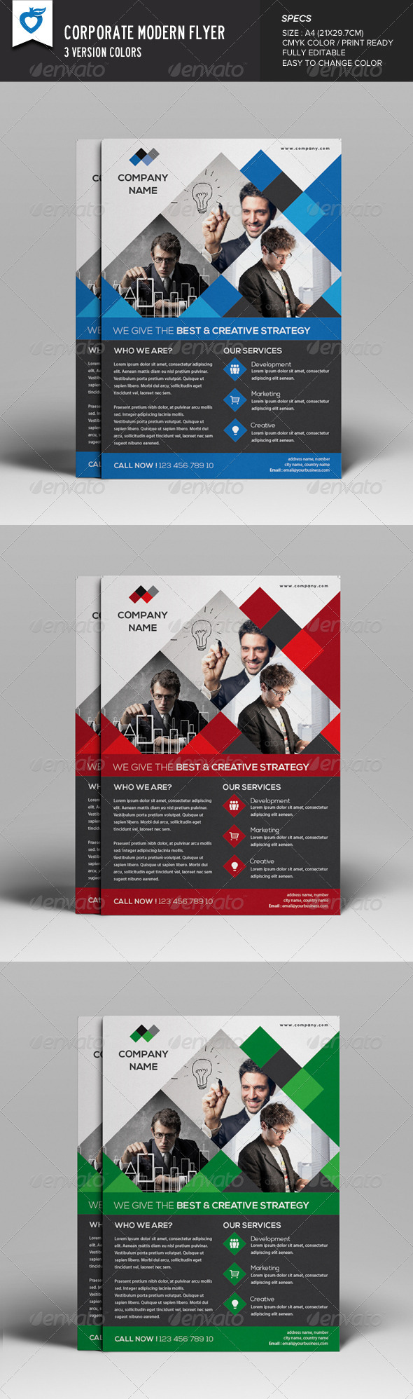 GraphicRiver Corporate Modern Flyer 8204405