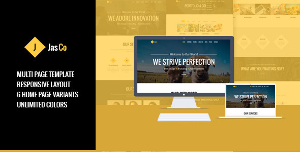 ThemeForest JASCO Creative Multi-purpose HTML5 Template 8204586