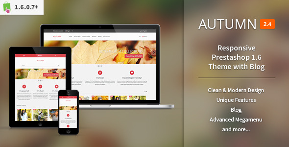 Autumn - Responsive Prestashop 1.6 Theme with Blog