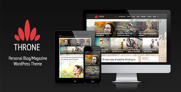 ThemeForest Throne Personal Blog Magazine WordPress Theme 8134834