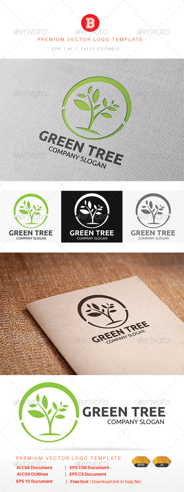 GraphicRiver Green Tree 8204611