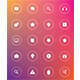 Flat Glass Web Icons - GraphicRiver Item for Sale
