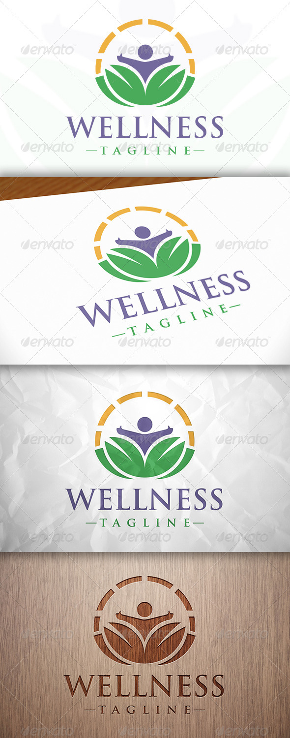 GraphicRiver Wellness Logo Template 8204641