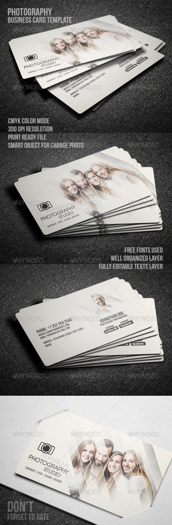 GraphicRiver Photography Business Card 8204860