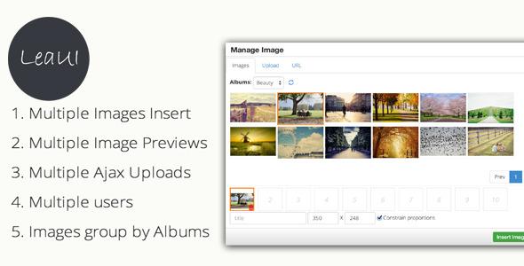 CodeCanyon TinyMCE4 Album Image Manager 8145620