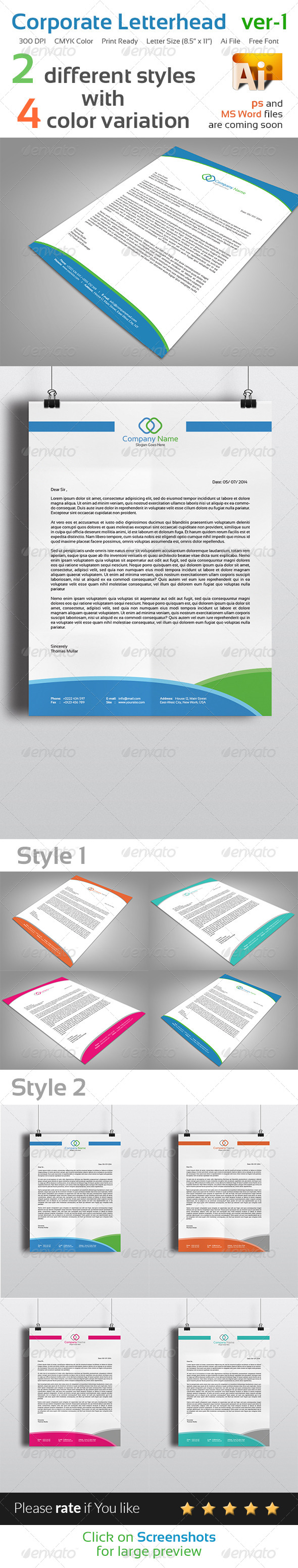 GraphicRiver Corporate Letterhead Ver-1 8205250