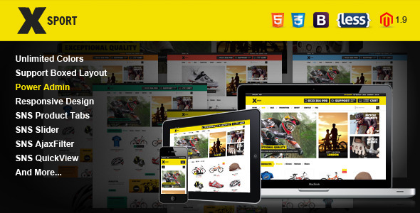 SNS Xsport - Premium Responsive Magento Theme Download