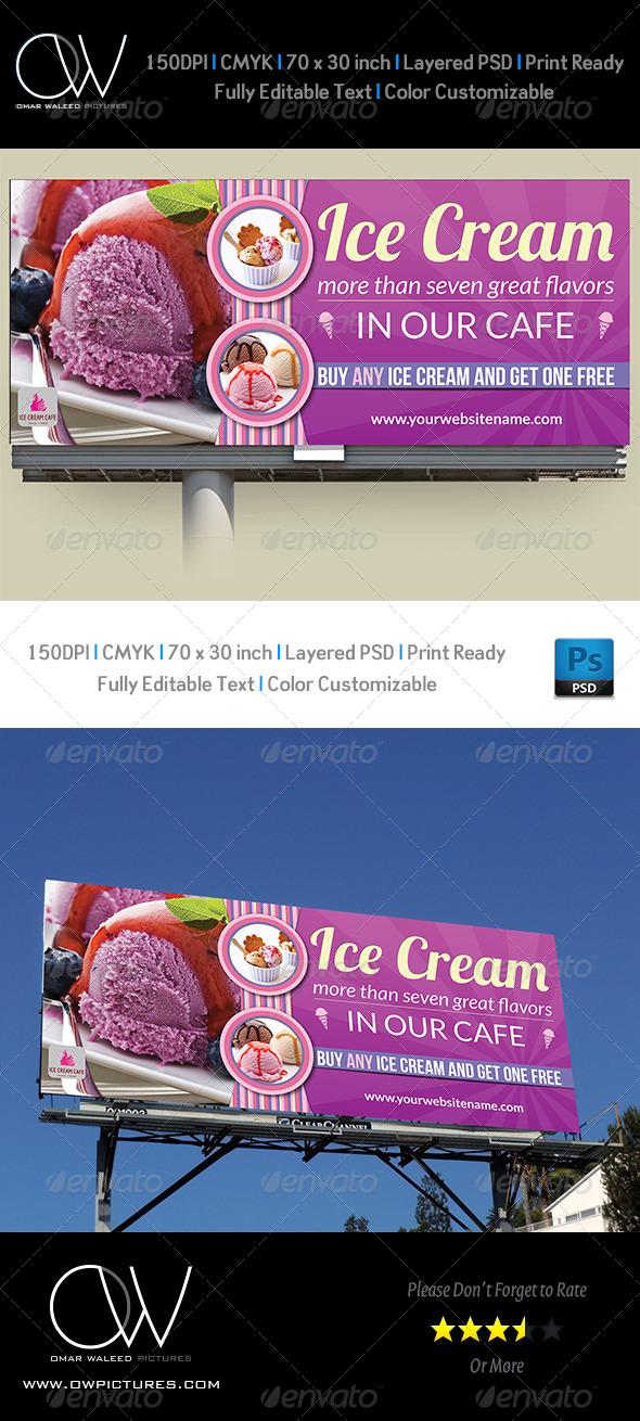 GraphicRiver Ice Cream Billboard Template Vol.2 8205360