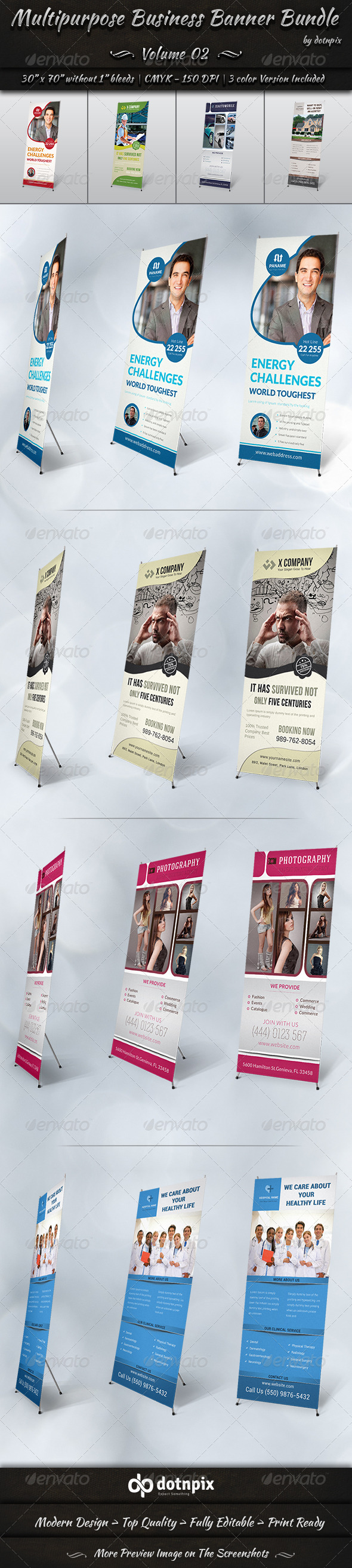 GraphicRiver Multipurpose Business Banner Bundle Volume 2 8192363