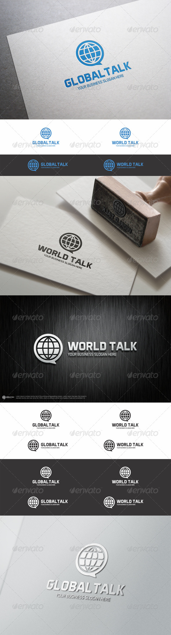 GraphicRiver Global Talk Logo Template 8205525