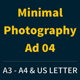 Get Minimal - Photography Ad Template 04 - GraphicRiver Item for Sale