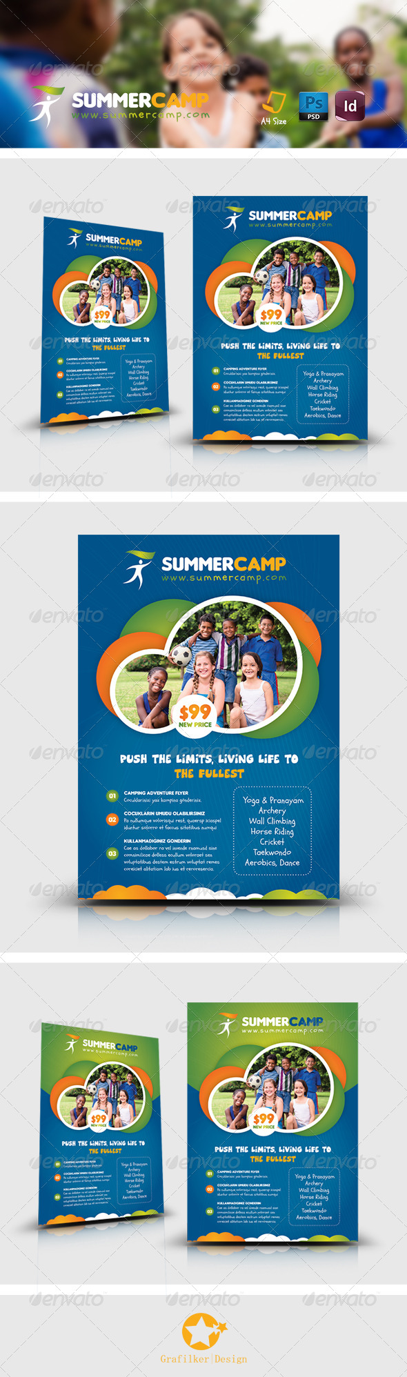 GraphicRiver Summer Camp Flyer Templates 8205868