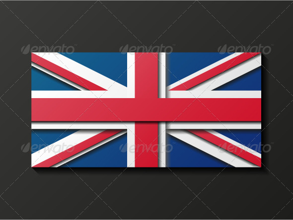 GraphicRiver Modern Style Great Britain Flag 8205884