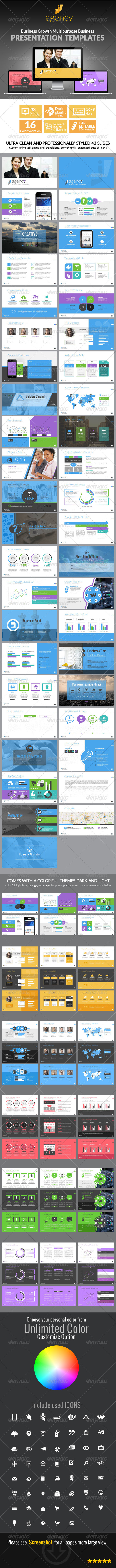 GraphicRiver Business Growth Presentation Template 8206060