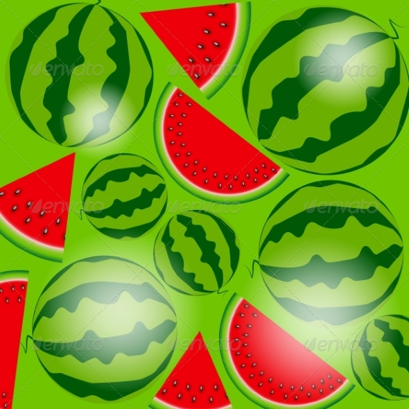 GraphicRiver Background of Watermelon 8206094